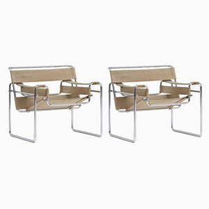 Wassily Chairs by Marcel Breuer for Gavina, Set of 2