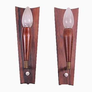 Rosewood Wall Lamps, Set of 2