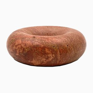 Pink Travertine Ashtray or Bowl by Sergio Asti for UP&UP, Carrara, Italy, 1970s