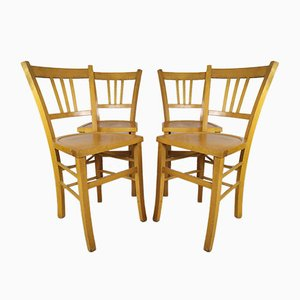 Vintage Bistro Chairs, 1950s, Set of 4