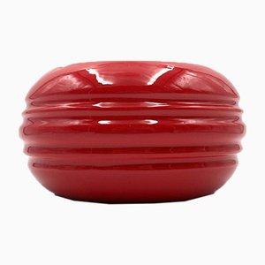 Großer Roter Aschenbecher aus Keramik von Pino Spagnolo für Sicart, 1970er