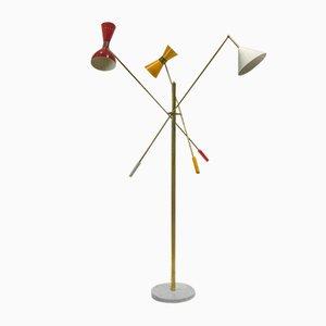 Italienische Stehlampe, 1960er