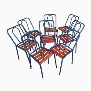 Metallstühle von Tolix, 8er Set