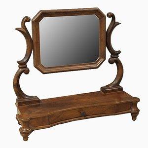 19th-Century Walnut Mirror, Italy