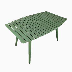 Mesa de jardín plegable de madera