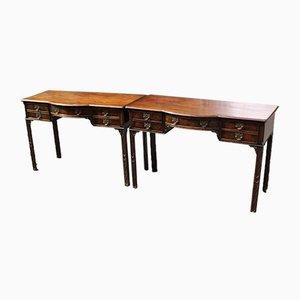 Mahogany Side Tables, 1920s, Set of 2