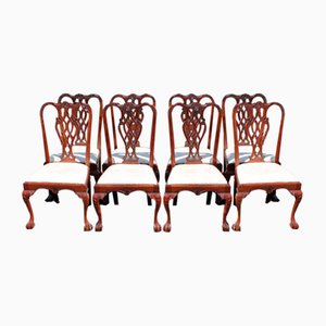 Mahogany Dining Chairs with Pop-Out Seats, 1960s, Set of 8