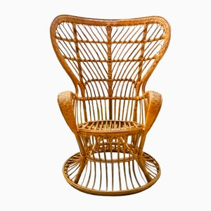 Armlehnstuhl aus Korbgeflecht von Lio Carminati & Gio Ponti für Casa e Giardino, 1950er