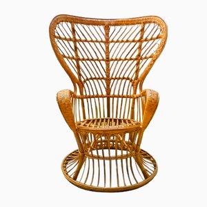 Wicker Armchair by Lio Carminati & Gio Ponti from Casa e Giardino, 1950s
