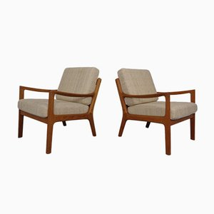 Vintage Teak Lounge Chairs by Ole Wanscher for Cado, Set of 2