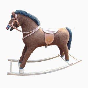 Vintage Wooden Rocking Horse, 1960s