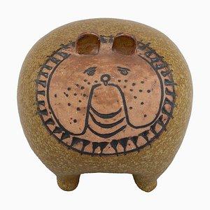 Midi Bulldogge aus lasierter Keramik von Lisa Larson für Gustavsberg, 1970er