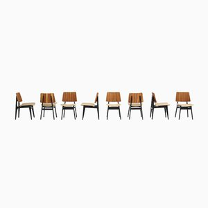 Dining Chairs by Jos De Mey for Luxus, Set of 8