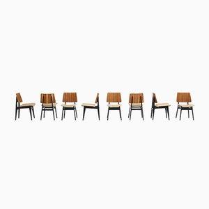 Esszimmerstühle von Jos De Mey für Luxus, 8er Set