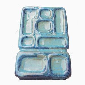 Turquoise Rectangular Ceramic Vase