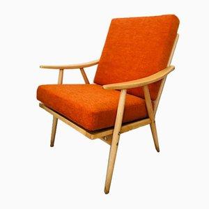 Orange Boomerang Armchair from TON, 1960s