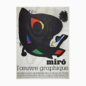 Poster L'Oeuvre Graphique, Joan Miró, 1974