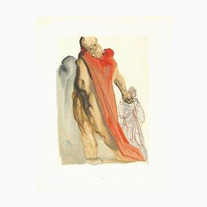 Salvador Dalí, Virgil's Admonishment, Original Woodcut, 1963