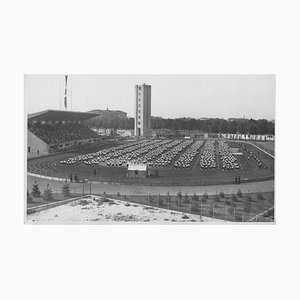 Unknown, Gymnastics in a Stadium During Fascism in Italy, Vintage B/W Photo, 1934