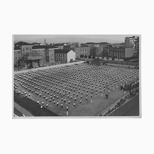 Unknown, Physical Education in a Stadium During Fascism, Vintage B/W Photo, 1934