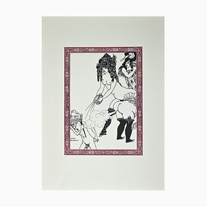 Nach Aubrey Beardsley, Malheureux tu te Ronge, Original Lithographie, 1970er