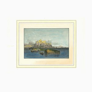 Unknown, Ancient View of Pozzuolo, Original Lithograph on Paper, 19th Century