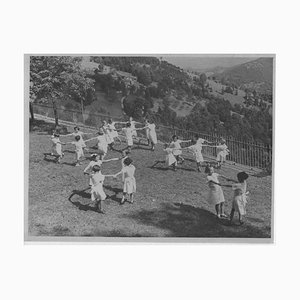 Unknown, Children Playing Outdoors During Fascism in Italy, Vintage B/W Photo, 1930s