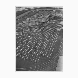 Inconnu, Education Physique dans un Stade Pendant Le Fascisme en Italie, Photo Vintage N & B, 1934
