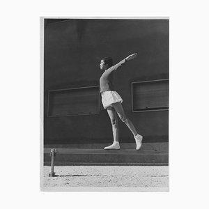 Unknown, Gymnastics in a Stadium During Fascism in Italy, Vintage B/W Photo, 1934s