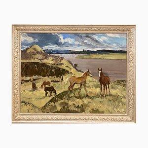 Wilde Pferde, Öl auf Leinwand, 1975