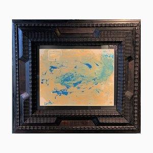 Composition Dora Maar, Turquoise Abstraite, Huile sur Papier, 1950
