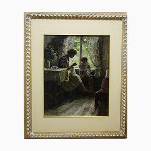 Boris Nicolaie, the Fairy Tale, 1955, Oil on Canvas