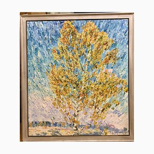 Birken im Herbst, Öl auf Leinwand, 2000