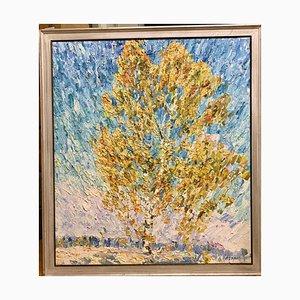 Georgij Moroz, Autumn Birches, Oil on Canvas, 2000