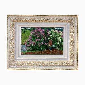 Sergej Tkachev, Flowers, Oil on Canvas, 1985