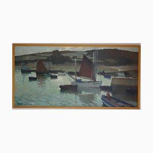 Boote im Hafen, 1930