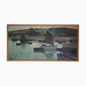 Henry Maurice Cahours, Boats in the Harbor, 1930