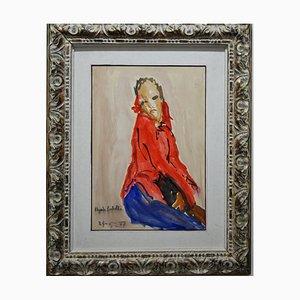Edgardo Corbelli, Women in Red, 1977, Oil on Canvas