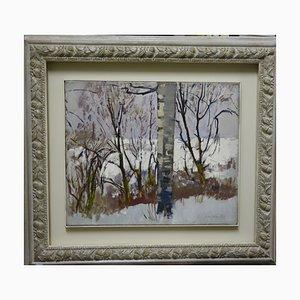 Gleb Savinov, Winter in the Wood, 1980
