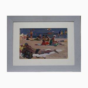 Evsey Reshin, Beach Gouache, 9172