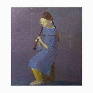 Peinture à l'Huile Portrait avec Flute, 2007