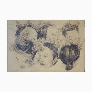 Guérison dans My Mind I, Crayon Pastel Noir, 2018