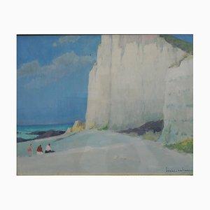 Henry Maurice Cahours, Les Falaises (Entretat), Gouache, 1930