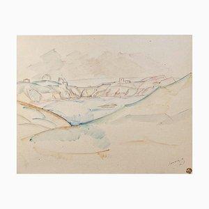 Landschafts-Aquarell, 1910