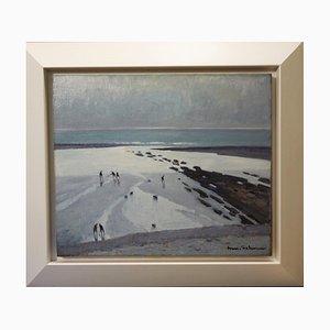 Strand bei Ebbe Frankreich, 1930
