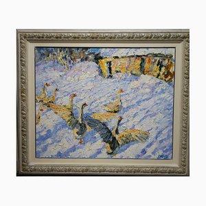 Georgij Moroz, Geese in the Snow, 2007