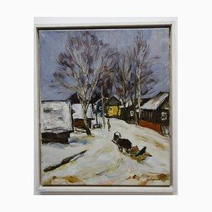 Schlitten im Schnee, 1990