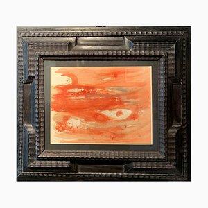 Dora Maar, Abstrakte Komposition in Orange, Öl auf Papier, 1950