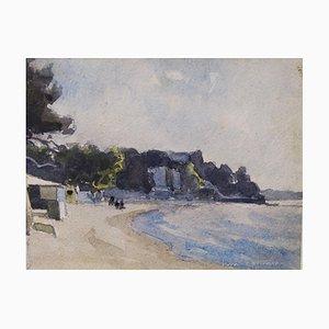 Juan Le Pins, France, Aquarelle, 1930s