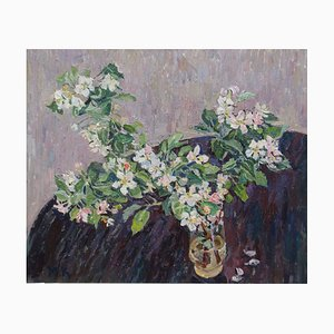 Apfelzweig in voller Blüte, 1994